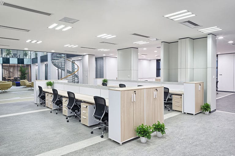 Office with custom lighting