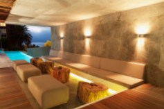 Room with custom light fixtures