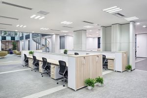 Office with custom lighting