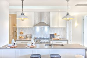 Kitchen with special lighting