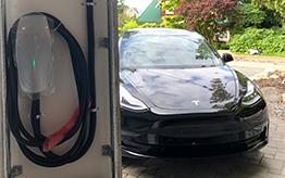 Tesla car charger station vancouver