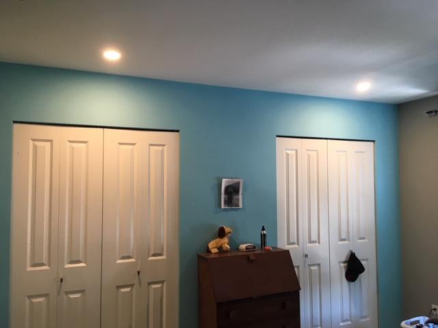 Closet Pot Light Installation – After