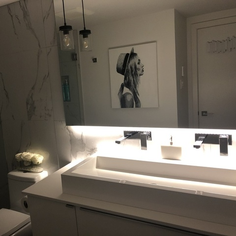 Bathroom LED Lighting installed professionally by ProAmp Electric