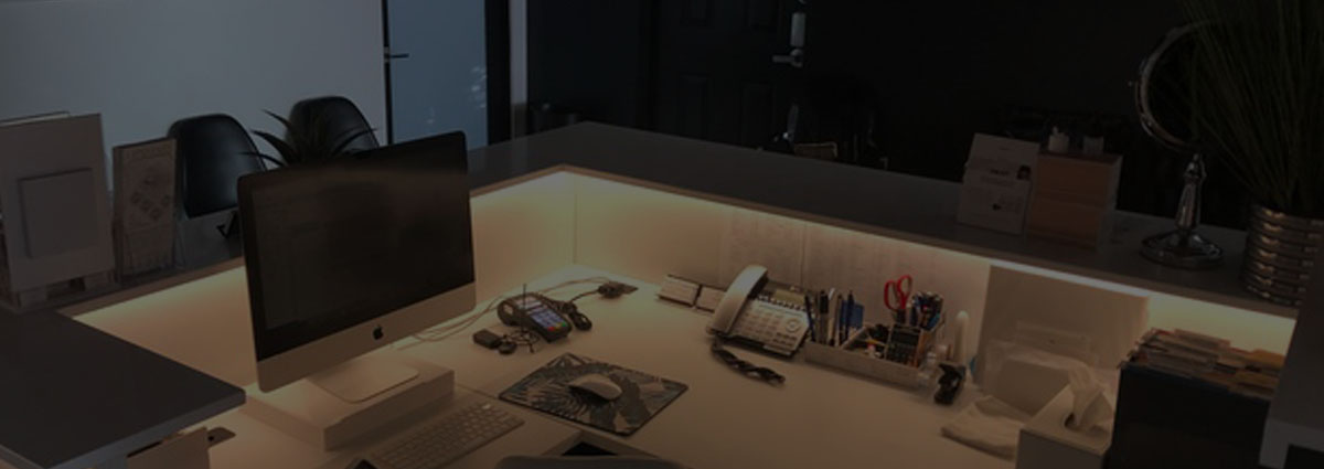 Strip Lighting in office environment professional installation