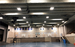 School Gymnasium Lighting installed by professional electrician at ProAmp Electric