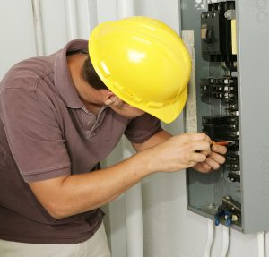 Electrician and Breaker Panel